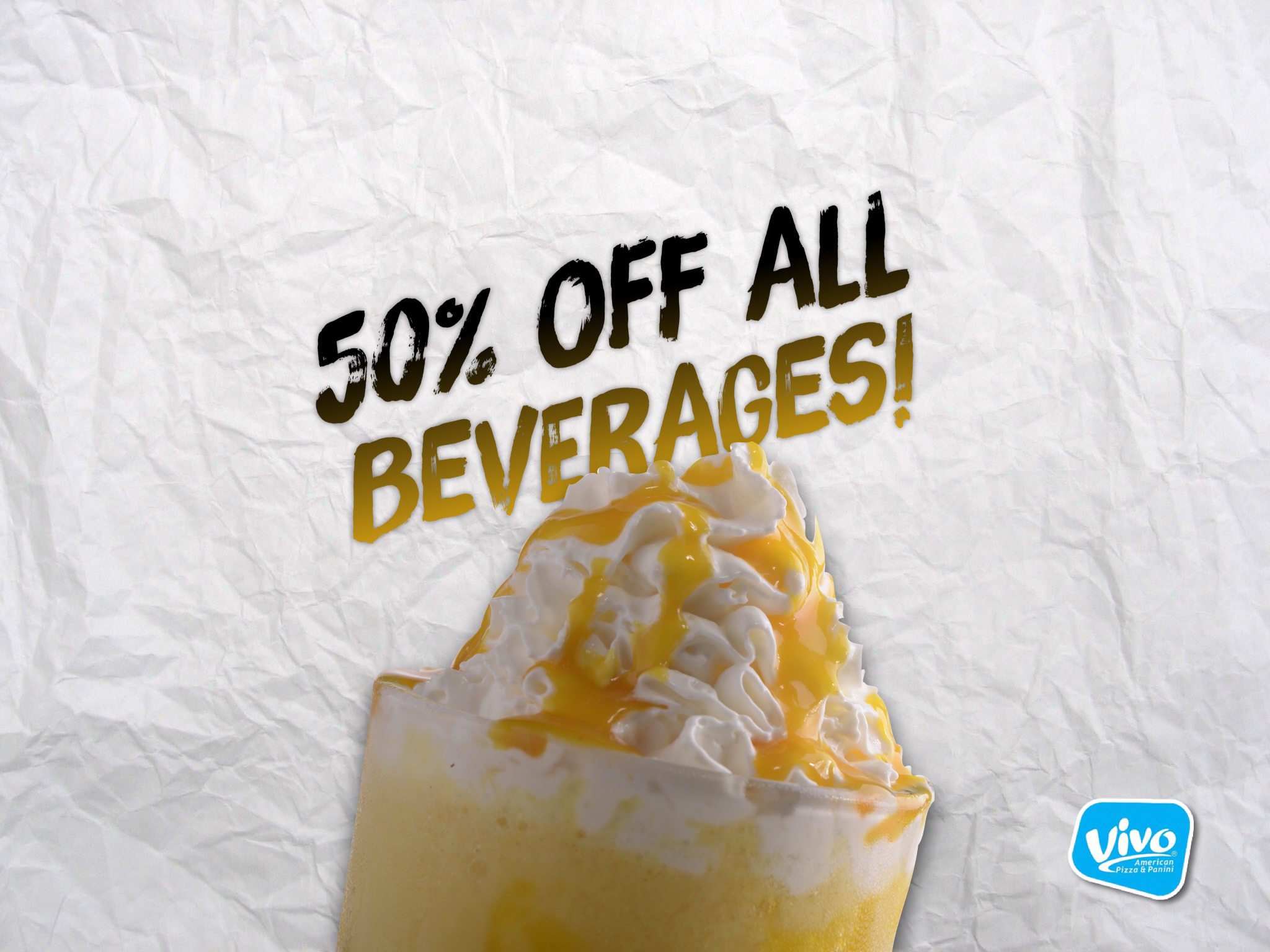 50% off all beverages